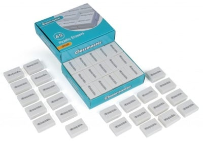 Classmaster Plastic Pencil Eraser 45 Pack