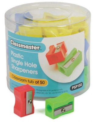 Classmaster Plastic Sharpeners 50 Pack