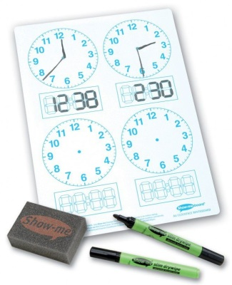 Show Me Clock Faced Drywipe 4 Panel Board