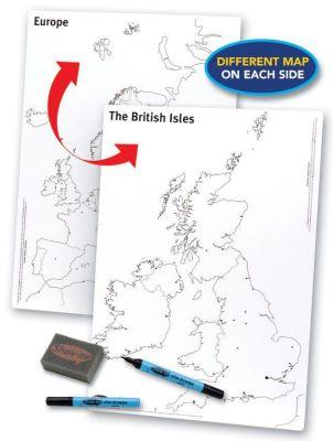 Show Me Map A3 Drywipe Board European Map