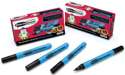 Show Me Fine Tip Black Pens 10 Pack