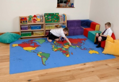 World Map Rug 2