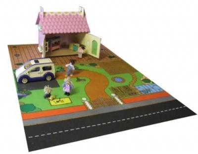 Kids Dolls House Playmat