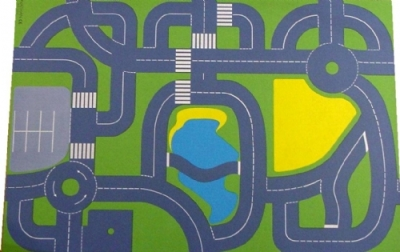 Continental Road Plan Playmat