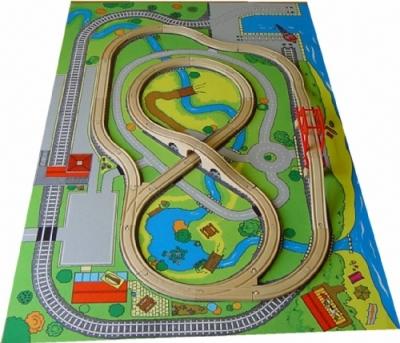 Wooden Railway Playmat Features