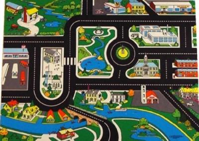 LARGE Town Roadway Playmat