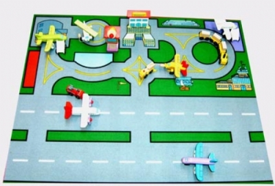 Airport Playmat For Toys