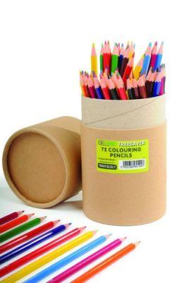 "Recreate Treesaverâ""¢ Recycled Colouring Pencils - 72 Tube"