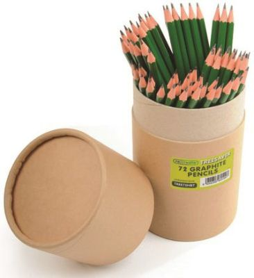 "Recreate Treesaverâ""¢ Recycled HB Pencils - 72 Tube"