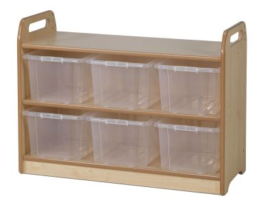 Tall Unit With Display & Mirror Back - Clear Tubs