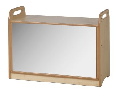 Tall Unit With Display & Mirror Back - Mirror