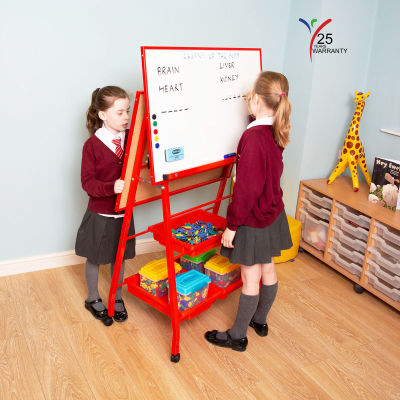 Double Board A Frame Easel Landscape Red 1
