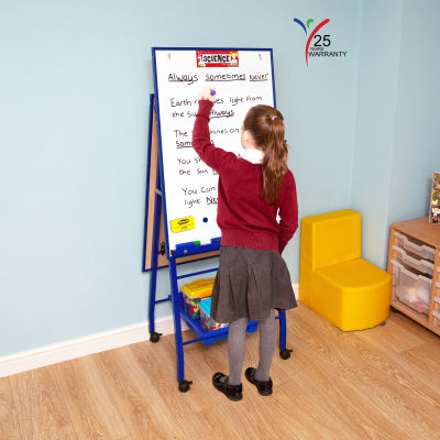 Fully Height Adjustable Mobile Easel Blue 4