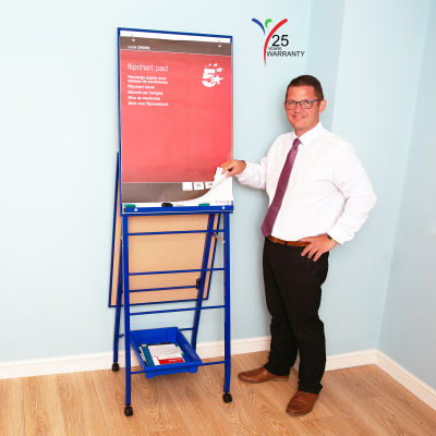 Fully Height Adjustable Mobile Easel Blue 6