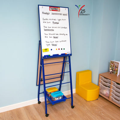 Fully Height Adjustable Mobile Easel Blue 7
