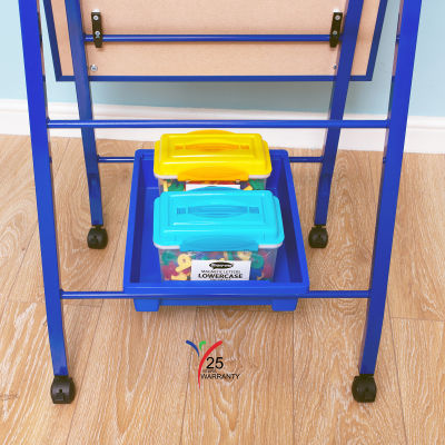 Fully Height Adjustable Mobile Easel Blue 8