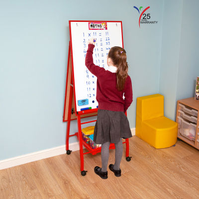 Fully Height Adjustable Mobile Easel Red 4