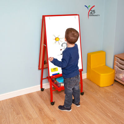 Fully Height Adjustable Mobile Easel Red 5