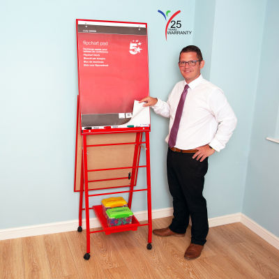 Fully Height Adjustable Mobile Easel Red 6