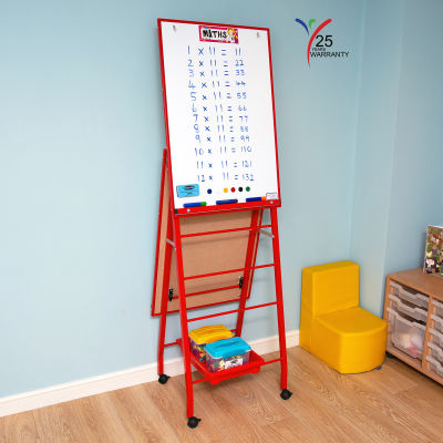 Fully Height Adjustable Mobile Easel Red 7