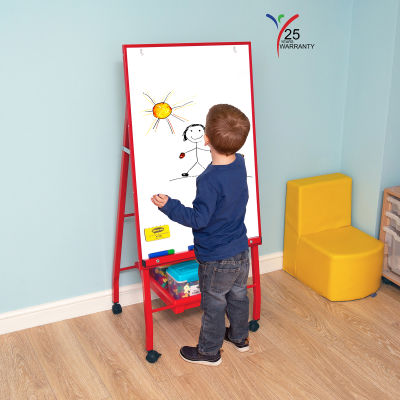 Single Board Mobile A Frame Easel Red 4