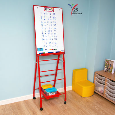 Single Board Mobile A Frame Easel Red 6