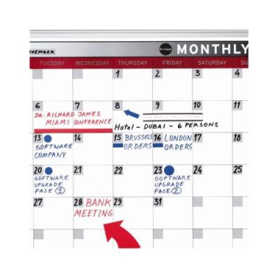 Magnetic-month-planner-900x600mm - Closeup